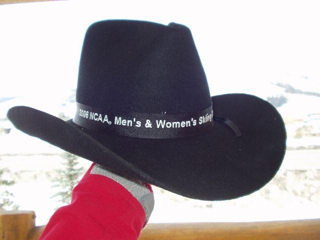 black Stetson cowboy hat!